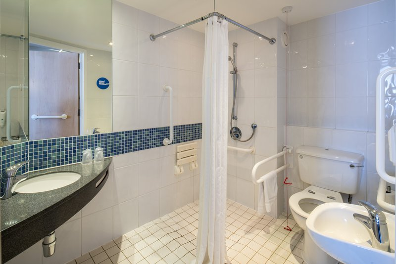 Holiday Inn Express Leicester City-WC ACCESS Bathroom<br/>Image from Leonardo