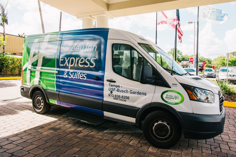 Holiday Inn Express & Suites Tampa USF Busch Gardens-Guests park for & shuttle to Busch Gardens for FREE!<br/>Image from Leonardo