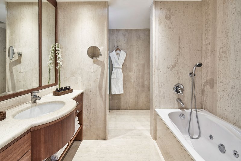 Blue Palace; a Luxury Collection Hotel-Mediterranean Maisonette Suite Bathroom<br/>Image from Leonardo