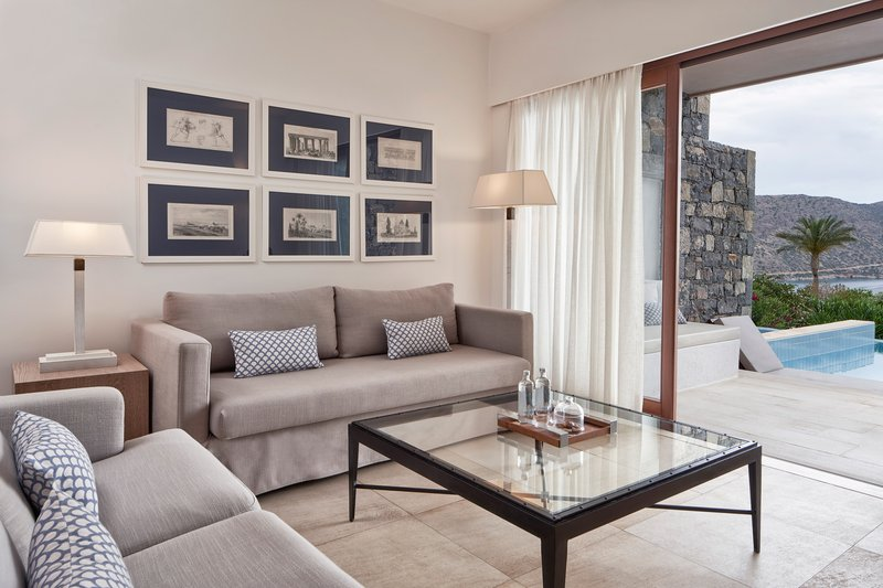 Blue Palace; a Luxury Collection Hotel-Mediterranean Maisonette Suite - Living Area<br/>Image from Leonardo