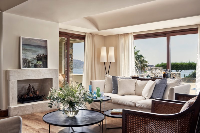 Blue Palace; a Luxury Collection Hotel-Royal Blue Villa Living Area<br/>Image from Leonardo