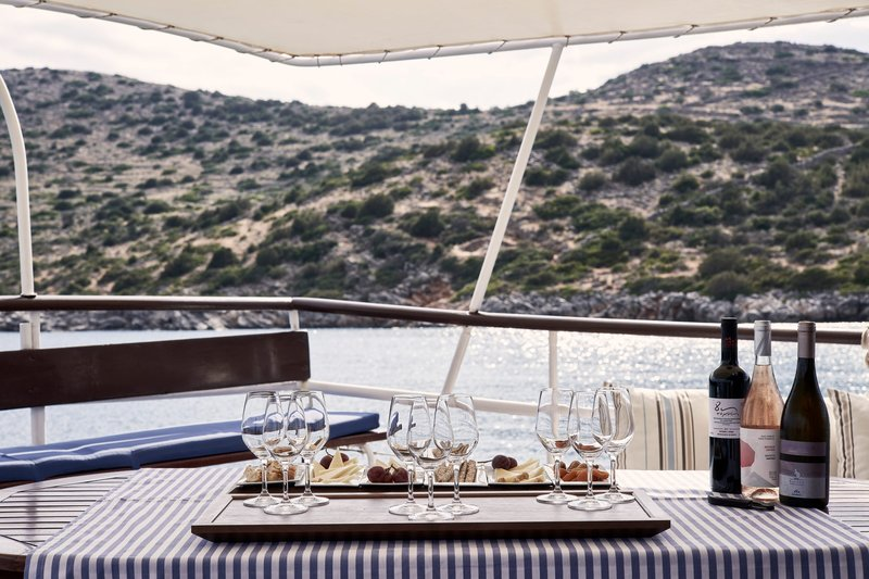 Blue Palace; a Luxury Collection Hotel-Cretan Wine Tasting Aboard the Traditional Caique<br/>Image from Leonardo