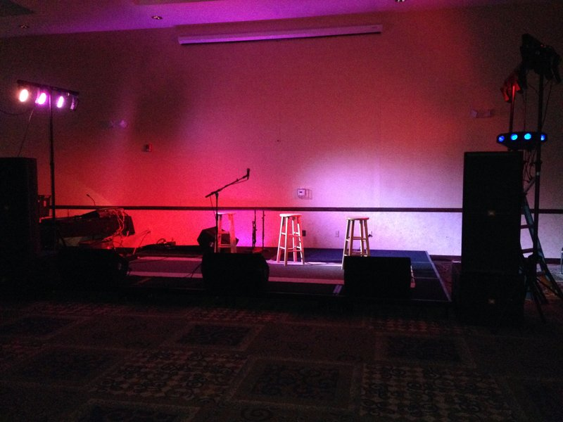 Holiday Inn Conference Center Marshfield-Ballroom - Concert set up<br/>Image from Leonardo