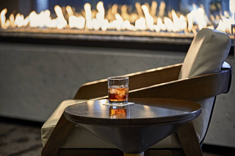 Calgary Marriott Downtown Hotel-One18 Empire Lobby Fireplace - Old Fashioned<br/>Image from Leonardo