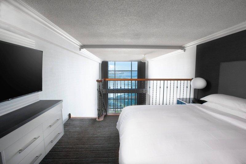 Marriott Niagara Falls on the Falls-One-Bedroom Bi-Level Suite - Loft Bedroom<br/>Image from Leonardo