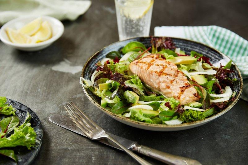 Marriott Portsmouth Hotel-Cast Iron Bar & Grill – Salmon Salad<br/>Image from Leonardo