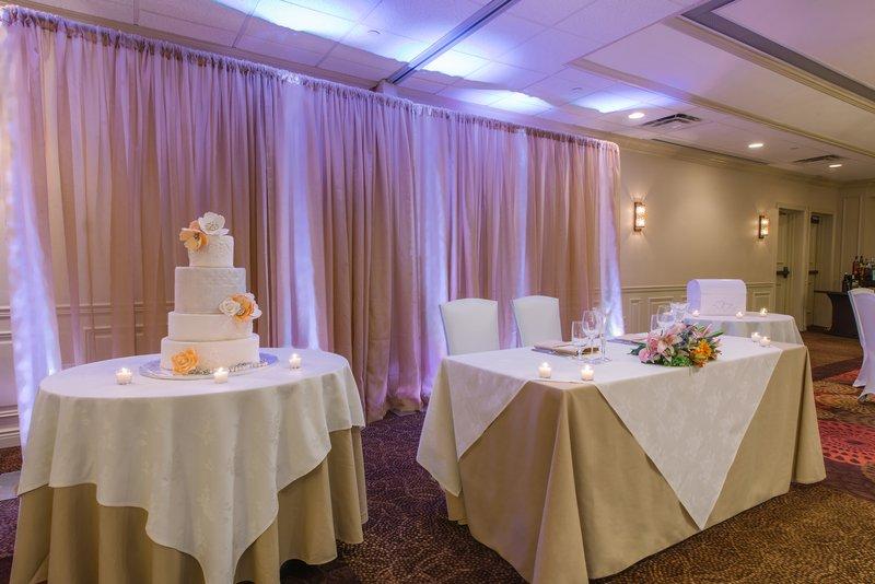 Holiday Inn Mt. Kisco-Cake & Head Table set up<br/>Image from Leonardo