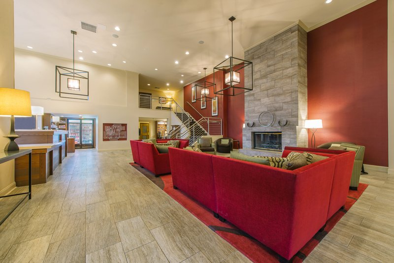 Holiday Inn Mt. Kisco-Cozy up by the fireplace in our modern hotel lobby<br/>Image from Leonardo
