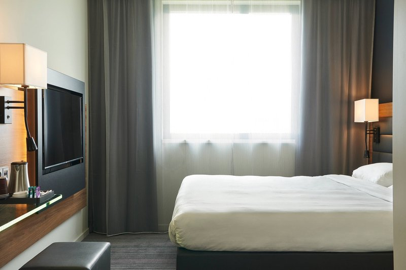 Moxy Milan Linate Airport-Moxy Bedroom<br/>Image from Leonardo