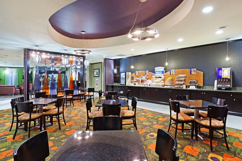 Holiday Inn Express & Suites Clemson - Univ Area-Spacious breakfast area with a variety of fresh food<br/>Image from Leonardo