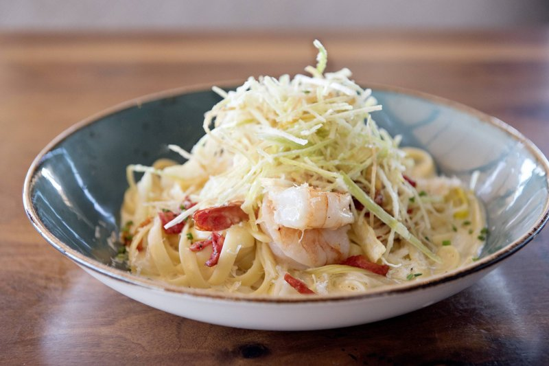 Delta Hotels by Marriott Victoria Ocean Point Resort-LURE Restaurant & Bar - Selva Prawn Fettuccini<br/>Image from Leonardo