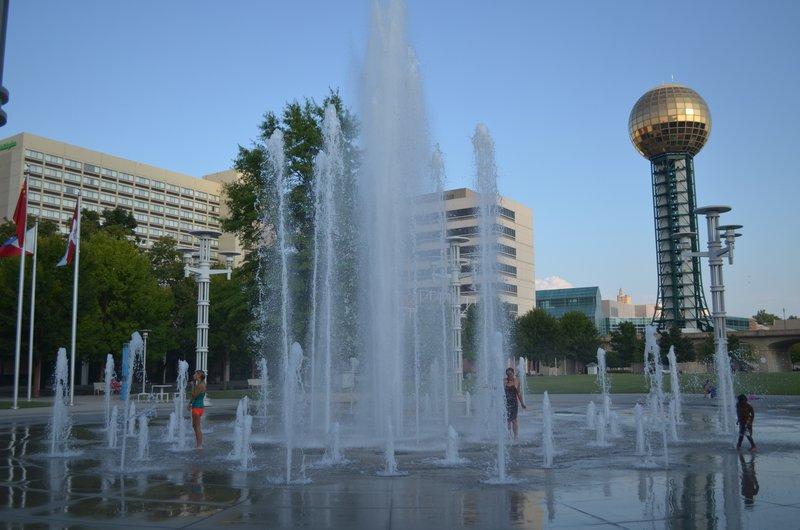 Holiday Inn Knoxville Downtown-Holiday Inn World's Fair Park, our backyard.<br/>Image from Leonardo