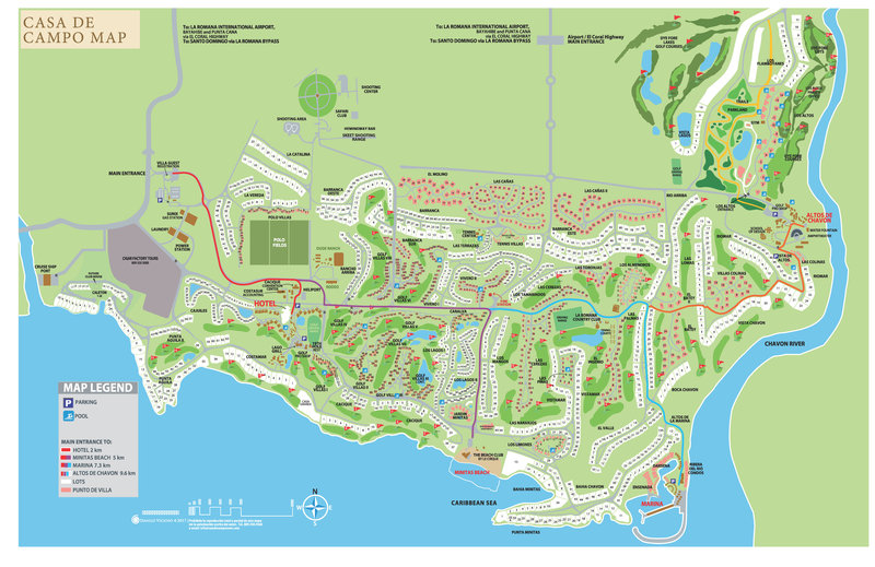 Casa De Campo - Property Map <br/>Image from Leonardo
