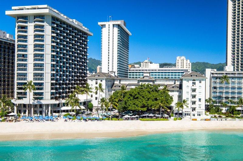 Moana Surfrider, A Westin Resort & Spa, Waikiki Beach - Aerial View <br/>Image from Leonardo