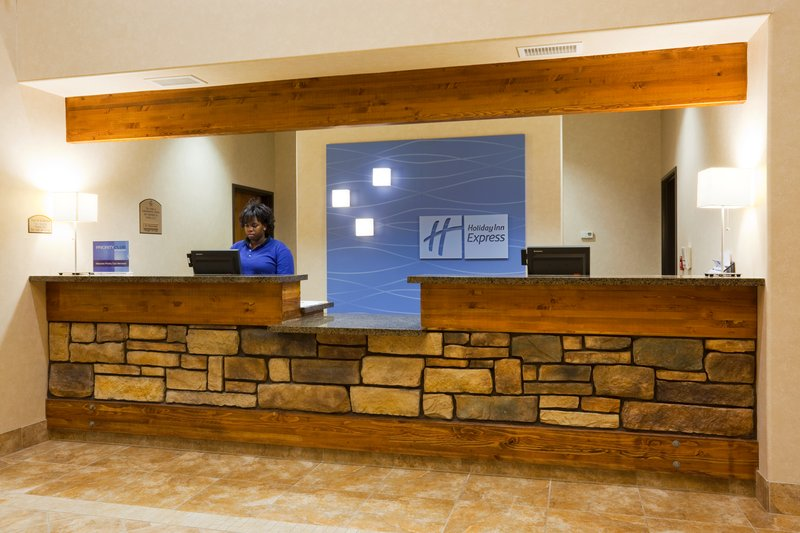 Holiday Inn Express & Suites Custer-Front Desk<br/>Image from Leonardo