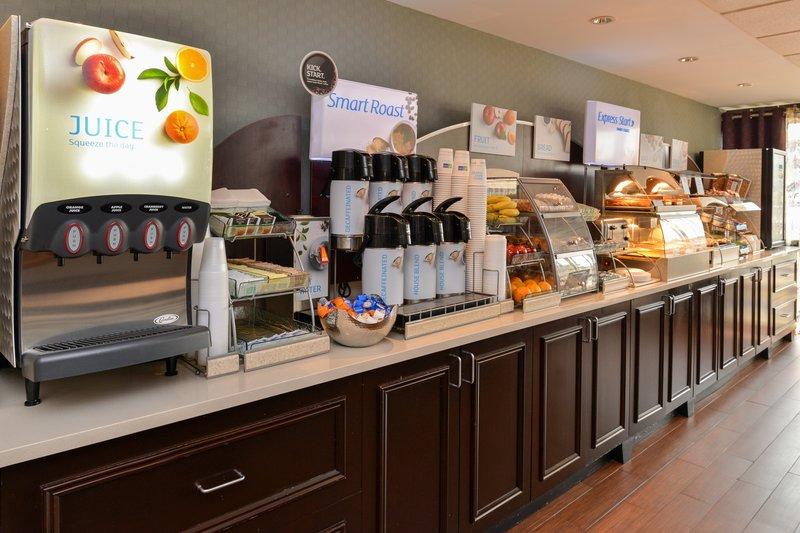 Holiday Inn Express Worcester Downtown-Express Start Breakfast Bar<br/>Image from Leonardo