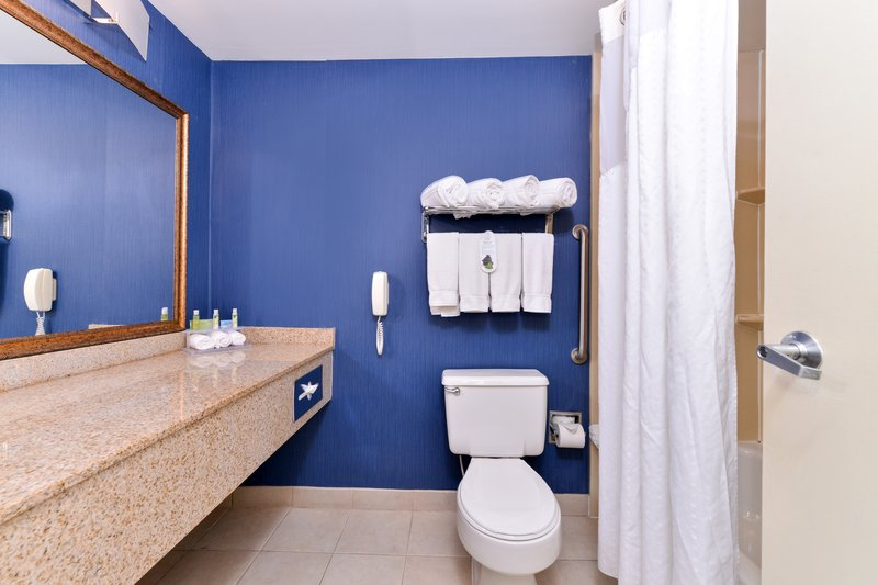 Holiday Inn Express Worcester Downtown-Clean and Comfortable Guest Bathroom<br/>Image from Leonardo