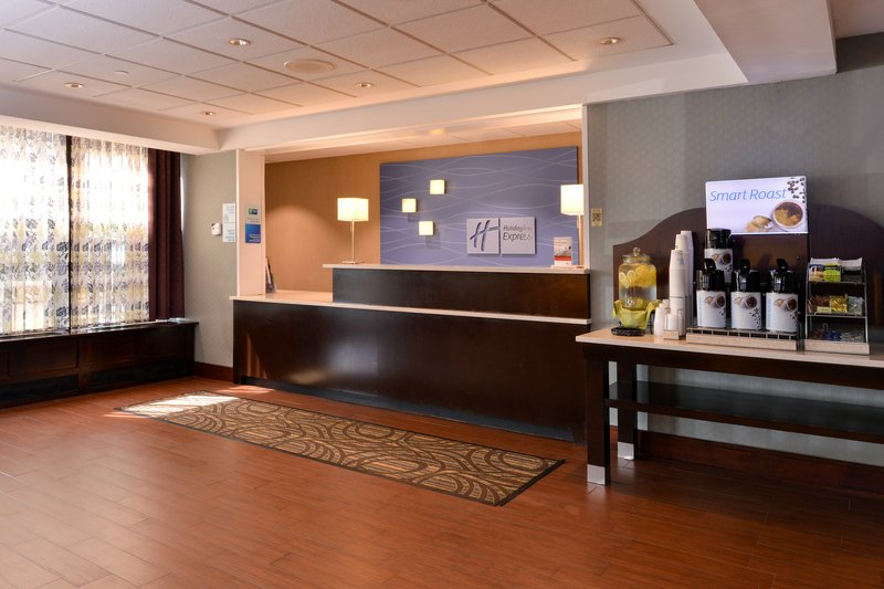Holiday Inn Express Worcester Downtown-Welcoming Front Desk & Lobby<br/>Image from Leonardo