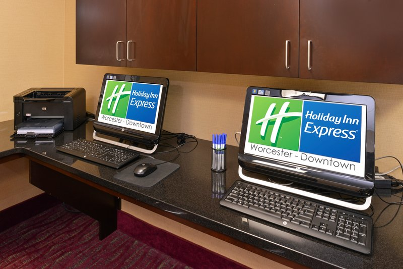 Holiday Inn Express Worcester Downtown-Two Guest Workstations in our Hotel Business Center<br/>Image from Leonardo