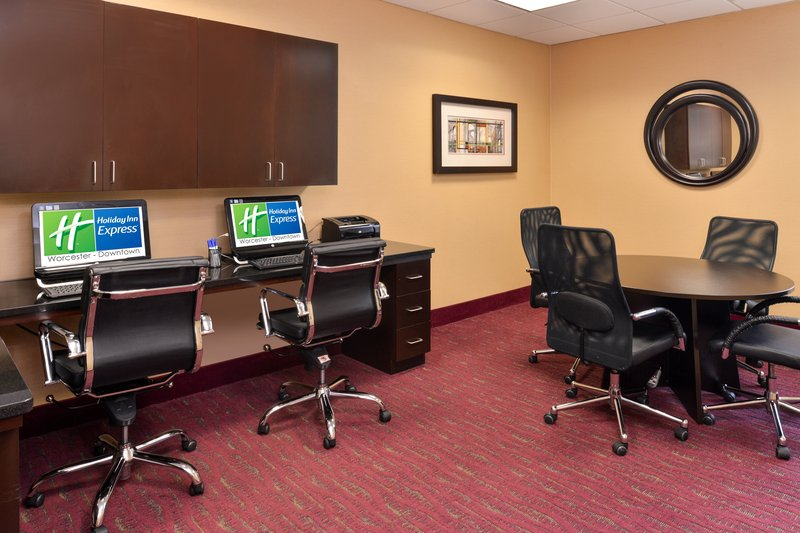 Holiday Inn Express Worcester Downtown-Nicely Equipped Business Center with Meeting Table<br/>Image from Leonardo