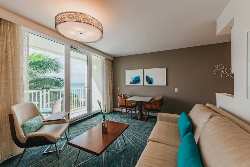Renaissance Aruba Resort & Casino - Ocean Suite - Living Area <br/>Image from Leonardo
