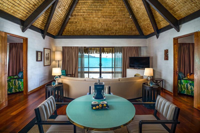 St Regis Resort Bora Bora - Two Bedrooms Overwater Royal Suite Villa Lounge <br/>Image from Leonardo
