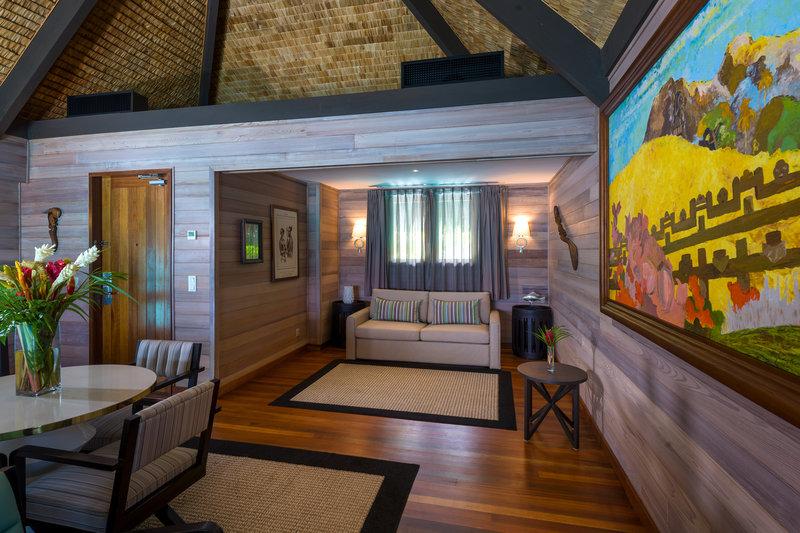 St Regis Resort Bora Bora - Overwater Premier Suite Villa Lounge <br/>Image from Leonardo