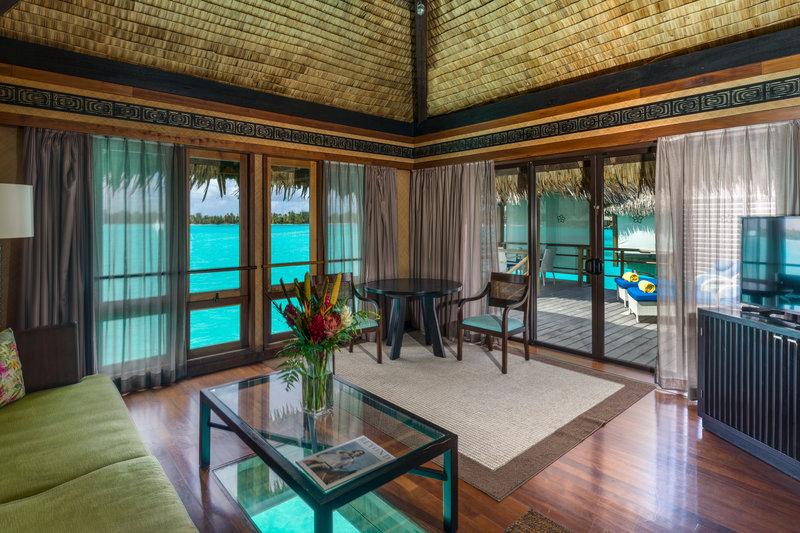 St Regis Resort Bora Bora - Overwater Deluxe Villa With Lagoon View Lounge <br/>Image from Leonardo