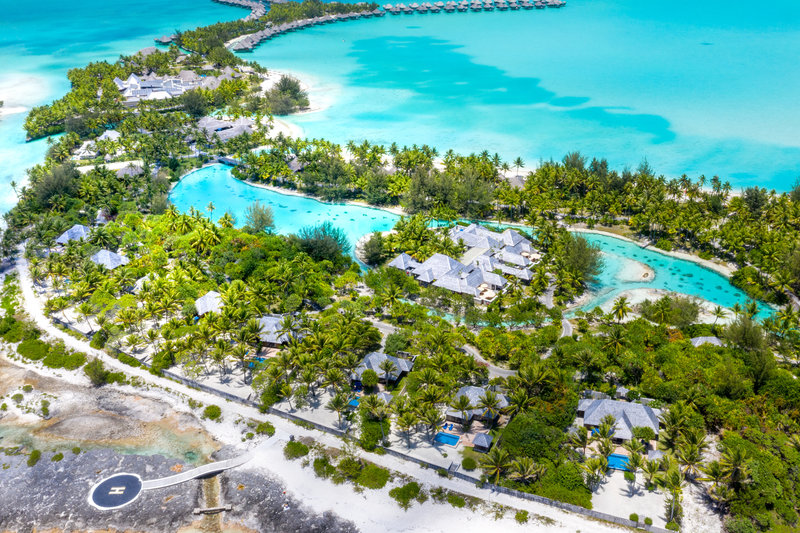 St Regis Resort Bora Bora - Garden Suite Villa With Pool Aerial View <br/>Image from Leonardo