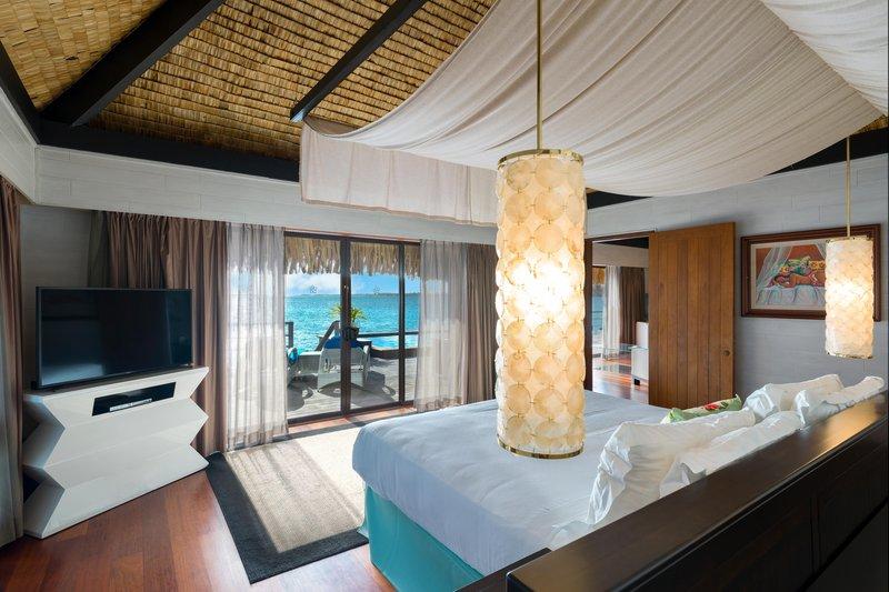 St Regis Resort Bora Bora - King Two Bedrooms Overwater Royal Suite Villa Mt Otemanu View <br/>Image from Leonardo