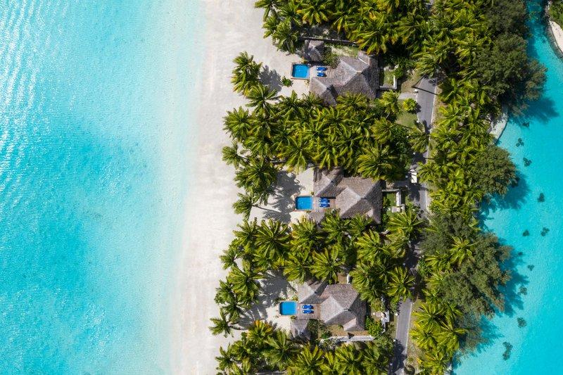 St Regis Resort Bora Bora - Beach Front Suite Villa With Pool Aerial View <br/>Image from Leonardo