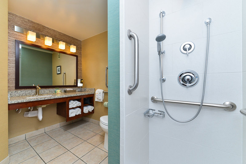 Holiday Inn Cody-At Buffalo Bill Village-handicap bathroom<br/>Image from Leonardo