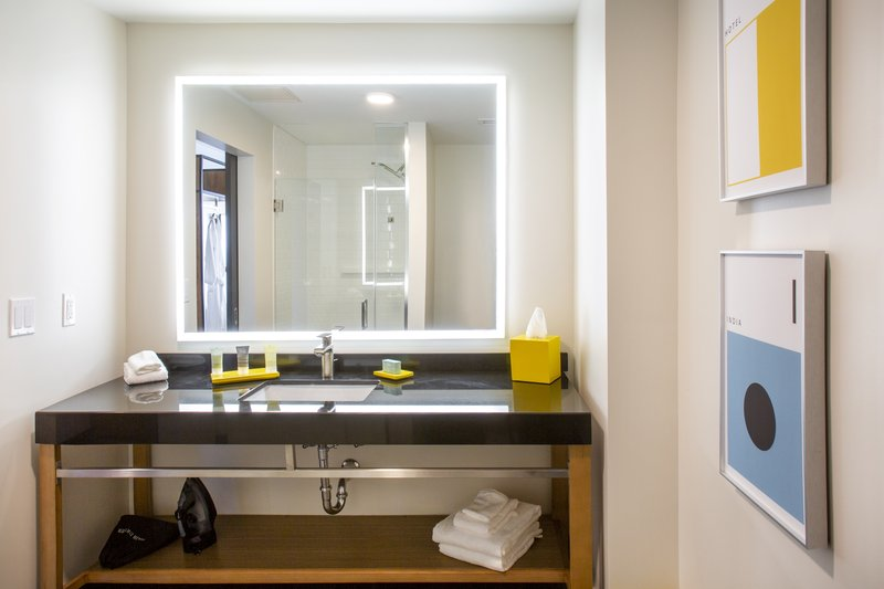 Hotel Indigo Seattle Everett Waterfront-King Bathroom<br/>Image from Leonardo