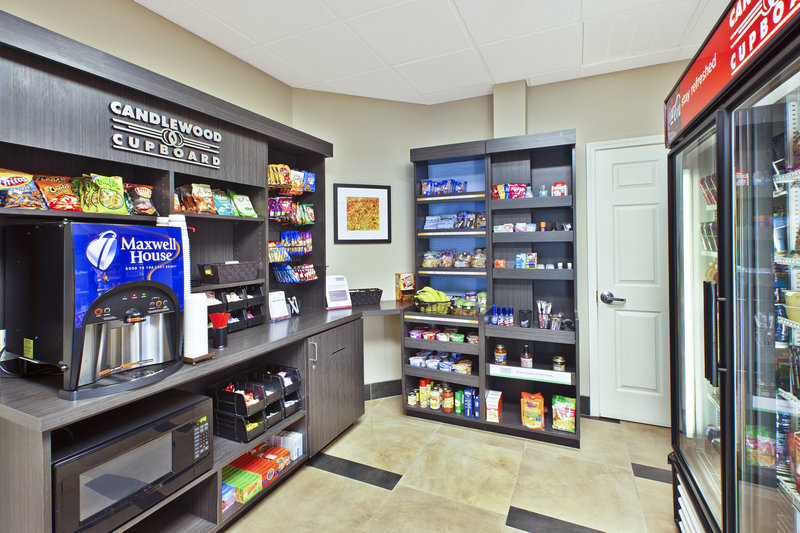 Candlewood Suites Indianapolis Airport-Candlewood Cupboard free coffee, snacks & beverages for purchase<br/>Image from Leonardo