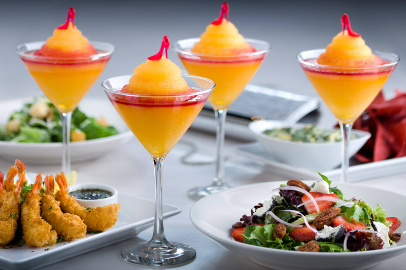 Marriott Niagara Falls on the Falls-Milestones on the Falls Restaurant - Bellinis and Appetizers<br/>Image from Leonardo