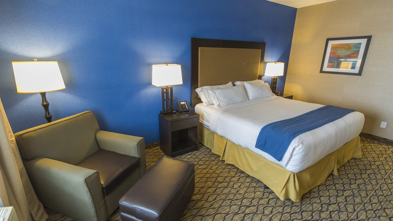 Holiday Inn Express & Suites Thunder Bay-Guest Room with One King Size Bed<br/>Image from Leonardo