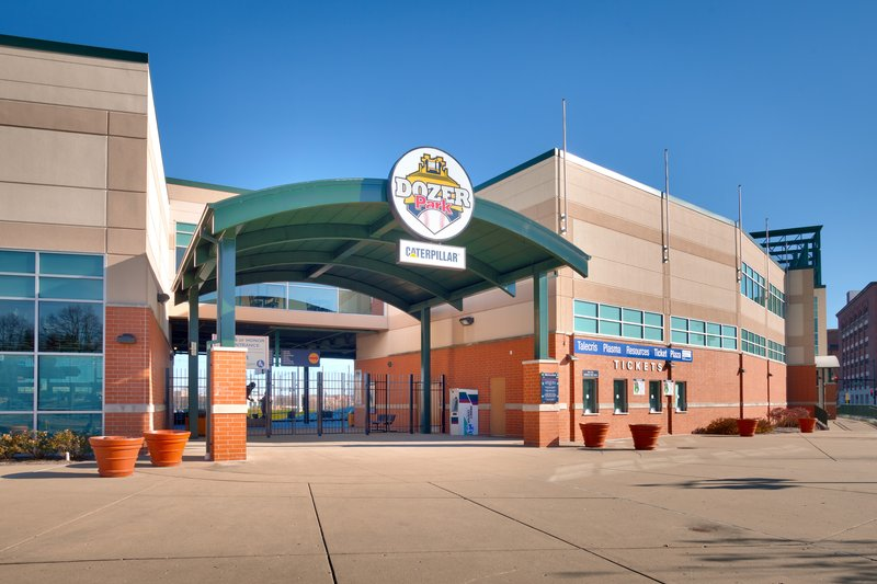 Staybridge Suites Peoria-Downtown-Dozer field home of the Peoria Chiefs and other special events<br/>Image from Leonardo