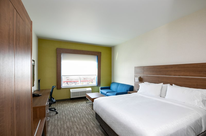 Holiday Inn Express Lethbridge Southeast-King Leisure with King size bed and sofa<br/>Image from Leonardo