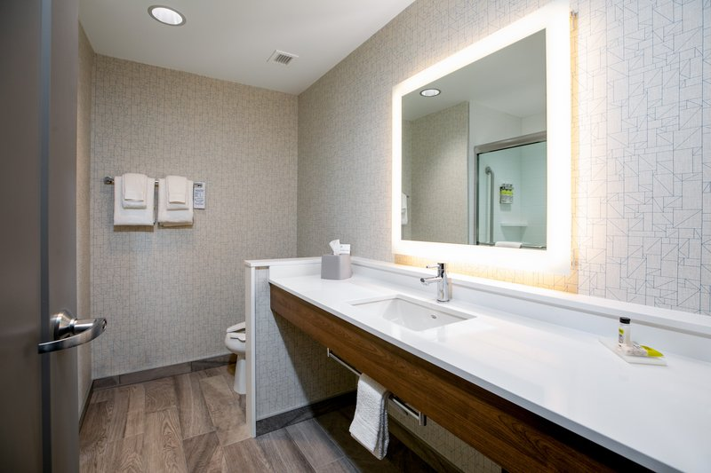 Holiday Inn Express Lethbridge Southeast-Large vanity in the King Business room<br/>Image from Leonardo