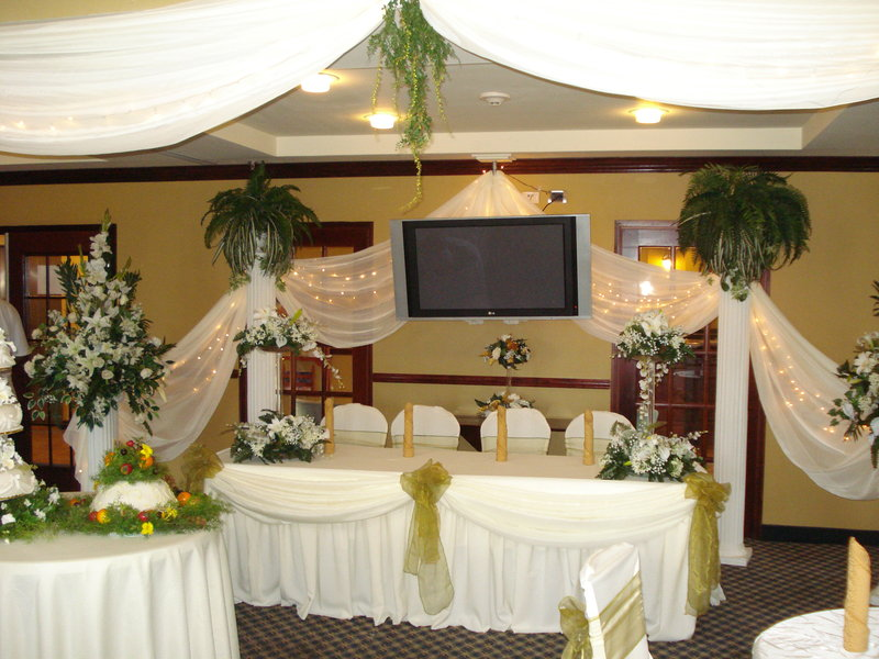 Holiday Inn Express Hotel & Suites Trincity Trinidad Airport-Head Table for Wedding in Great Room<br/>Image from Leonardo