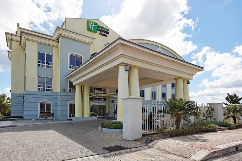 Holiday Inn Express Hotel & Suites Trincity Trinidad Airport-Entrance<br/>Image from Leonardo