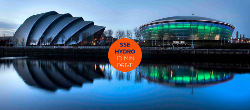 Holiday Inn Express Glasgow - City Centre Riverside-SSE Hydro & Glasgow Armadillo - © Material Communications<br/>Image from Leonardo