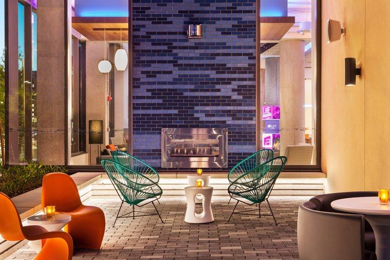 Aloft Boston Seaport-Backyard - Fireplace<br/>Image from Leonardo
