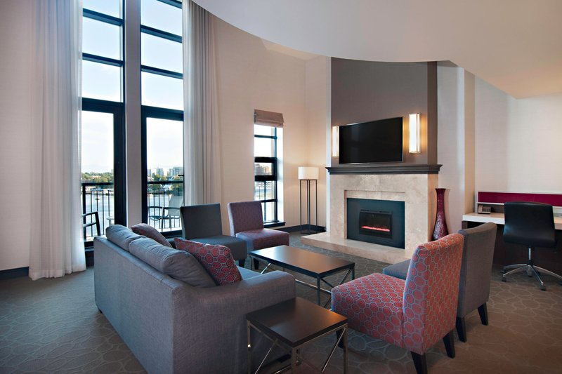Delta Hotels by Marriott Victoria Ocean Point Resort-Presidential Suite Living Room & Harbour Views<br/>Image from Leonardo