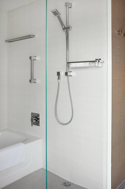 Delta Hotels by Marriott Toronto-Guest Room Bathroom - Bathtub and Shower<br/>Image from Leonardo