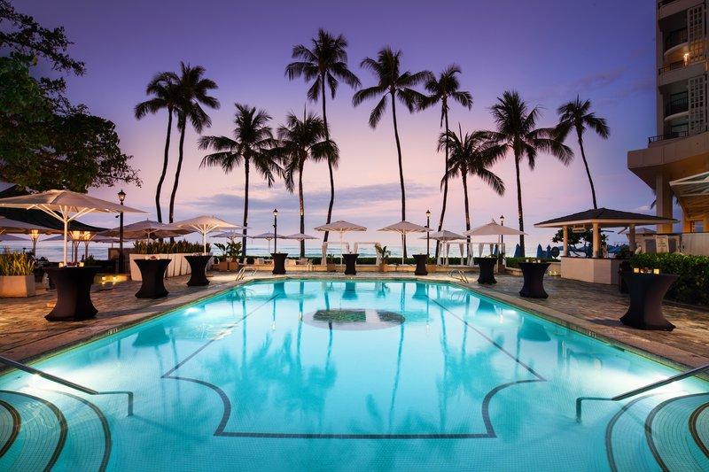 Moana Surfrider, A Westin Resort & Spa, Waikiki Beach - Pool Reception Set Up <br/>Image from Leonardo