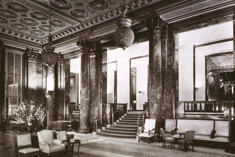 The Westin St. Francis - Historic - Landmark Lobby, 1930's <br/>Image from Leonardo