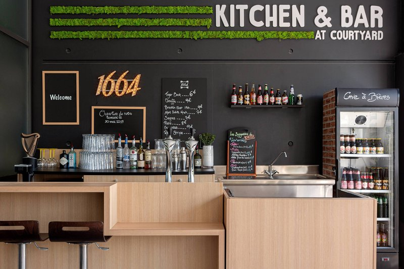 Courtyard Toulouse Airport-Courtyard Kitchen and Bar Terrace<br/>Image from Leonardo