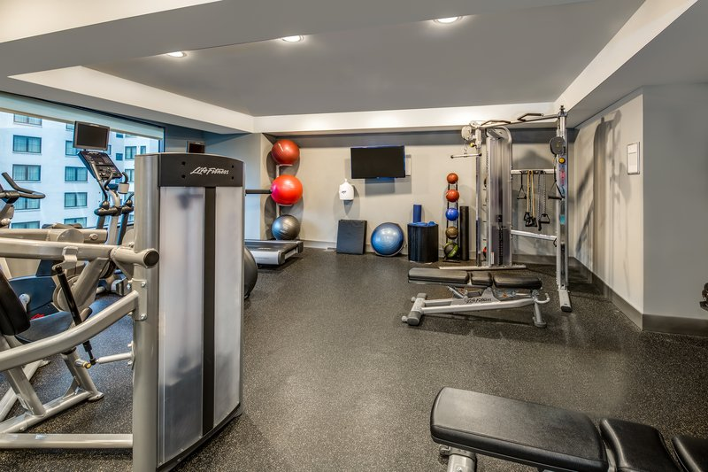 Crowne Plaza Seattle-Downtown-Modern Fitness Room with Extensive Options.<br/>Image from Leonardo