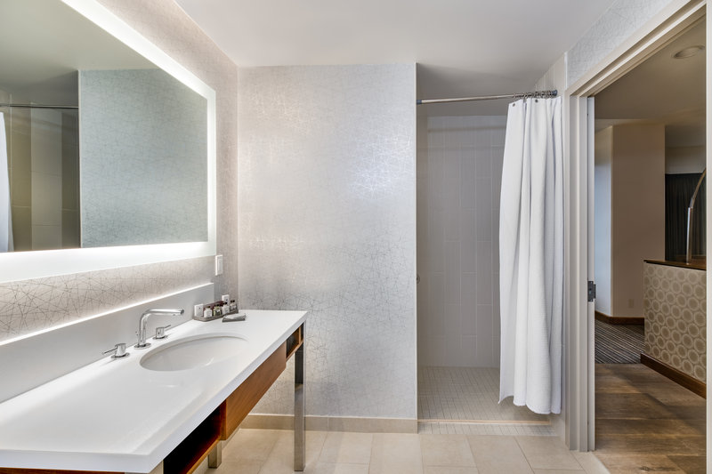 Crowne Plaza Seattle-Downtown-Our guest bathrooms have plenty of counter space to get ready.<br/>Image from Leonardo